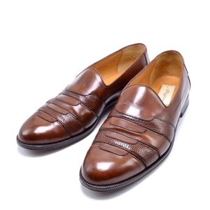 MEZLAN Caracas Genuine Leather Brown Loafers